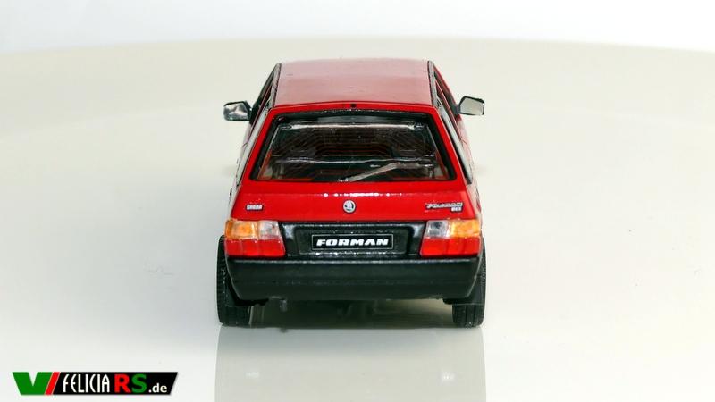 """Škoda Forman 1996 Sportline Red limited Edition 1 of 1998 1:43 Abrex """"Auslieferungszustand"""" man beachte die Räder"""