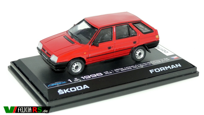 Škoda Forman 1996 Sportline Red limited Edition 1 of 1998 1:43 Abrex nachbearbeitet