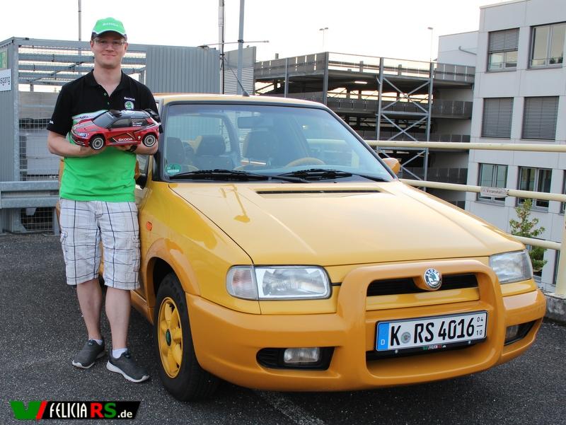 Ich und der Škoda Fabia R5 RC 1:10 im Monte Carlo Design